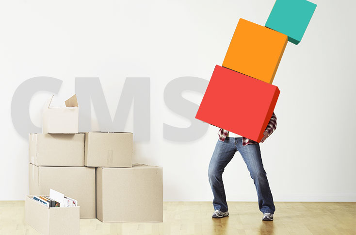 What should be considered before moving a website to a new CMS?