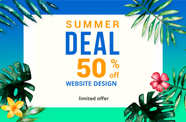 Website design 50% OFF