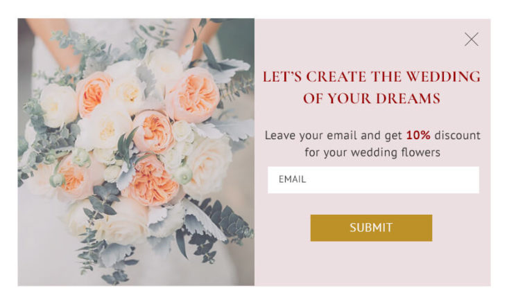 Welcome popup wedding services